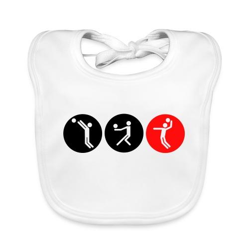 Volleyball symbole bicolor - Baby Bio-Lätzchen