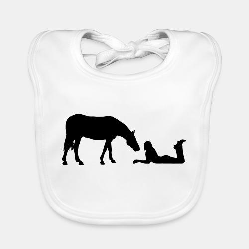 Horsegirl in Love - Baby Bio-Lätzchen