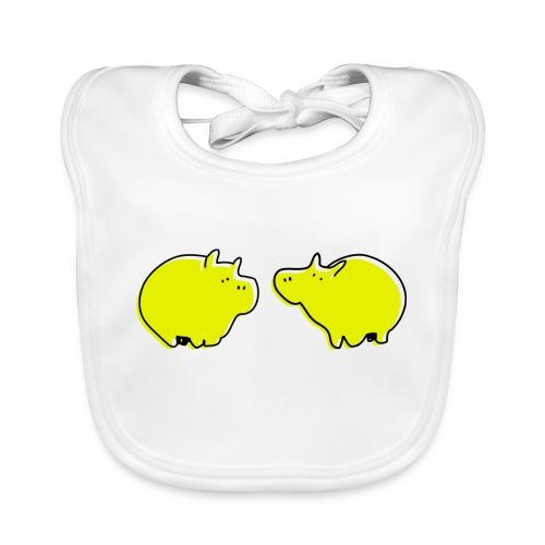 Cochons jaunes - Bavoir bio Bébé