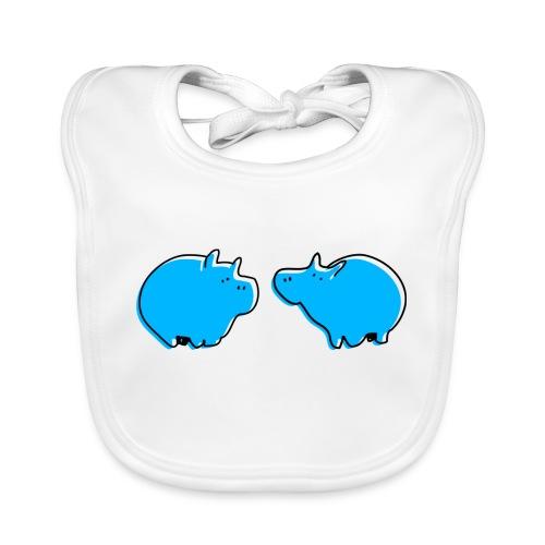 Cochons bleus - Bavoir bio Bébé