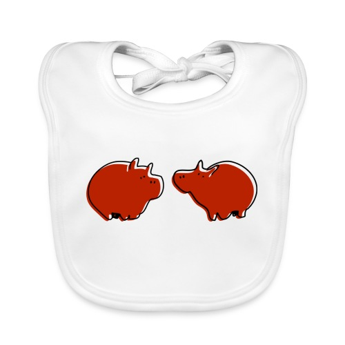 Cochons rouges - Bavoir bio Bébé
