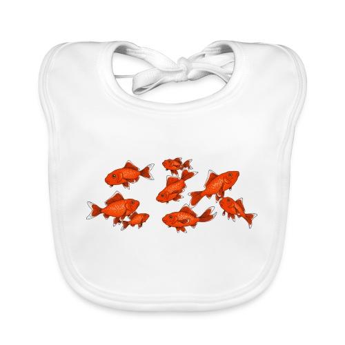 Les petits poissons rouges - Bavoir bio Bébé