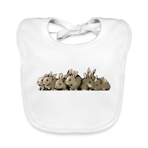 Lapins gris - Bavoir bio Bébé