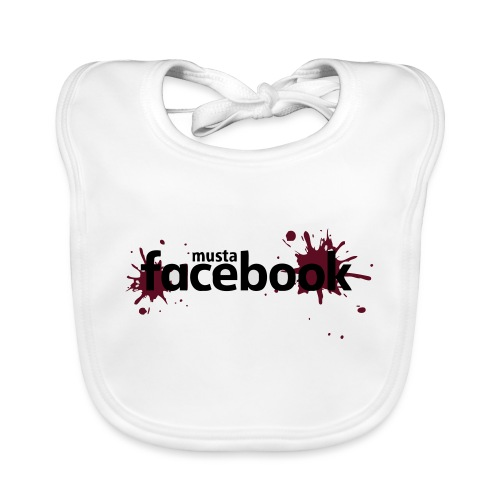 Musta Facebook -t-paita - Vauvan ruokalappu