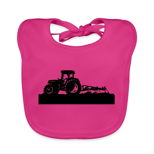 Tractor with cultivator - Baby Organic Bib