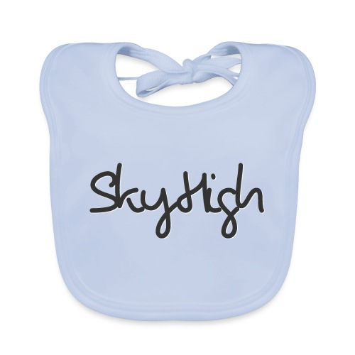 SkyHigh - Men's Premium Hoodie - Black Lettering - Baby Organic Bib