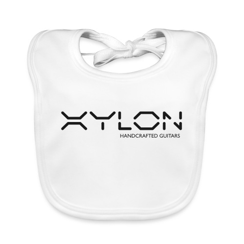 Xylon Handcrafted Guitars (plain logo in black) - Baby Organic Bib