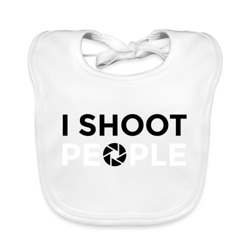 I shoot people - Baby Organic Bib
