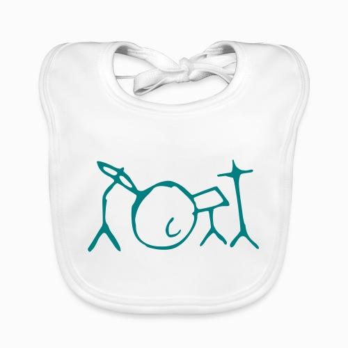 Jon Kennedy Drumkit Logo ONLY - Organic Baby Bibs