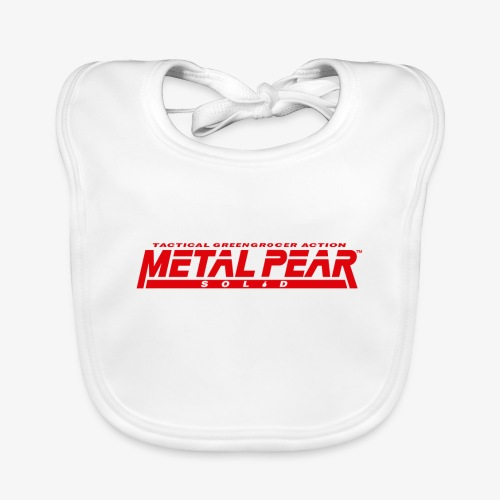 Metal Pear Solid: Tactical Greengrocer Action - Organic Baby Bibs