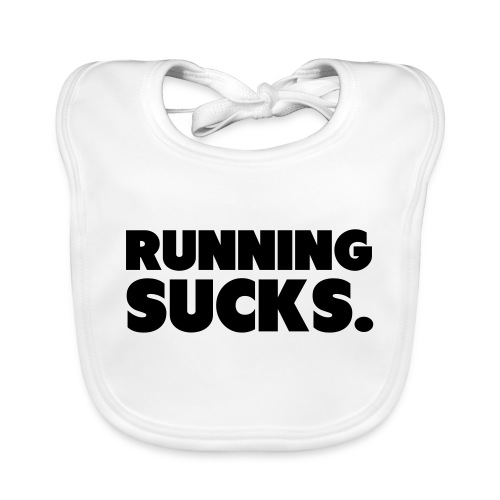 Running Sucks - Vauvan luomuruokalappu