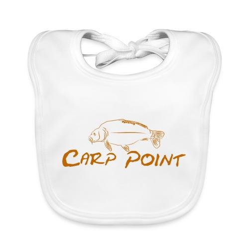 Carp-Point-orange-big - Baby Bio-Lätzchen