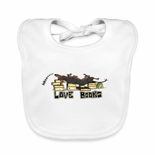 Love books - Ekologiczny śliniaczek