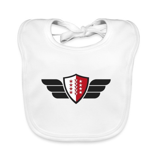 Flying Valais - Walliser Flagge mit Flügeln - Baby Bio-Lätzchen