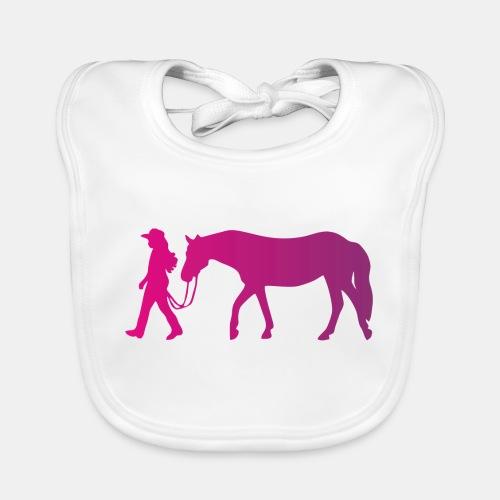 Mädchen führt Pferd, Horsemanship - Baby Bio-Lätzchen