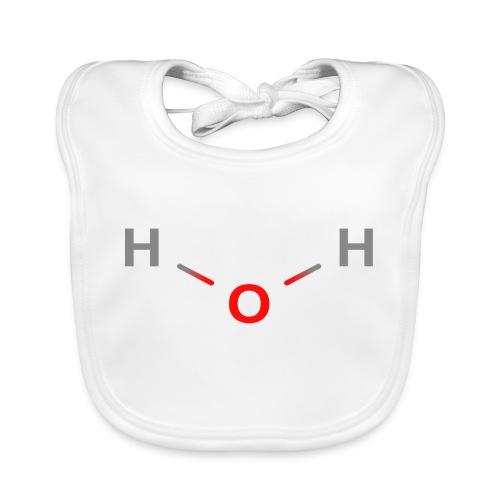 Water Molecule - Colored Structural Formula - Hagesmække af økologisk bomuld