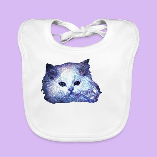 Gatto glitter - Bavaglino ecologico per neonato