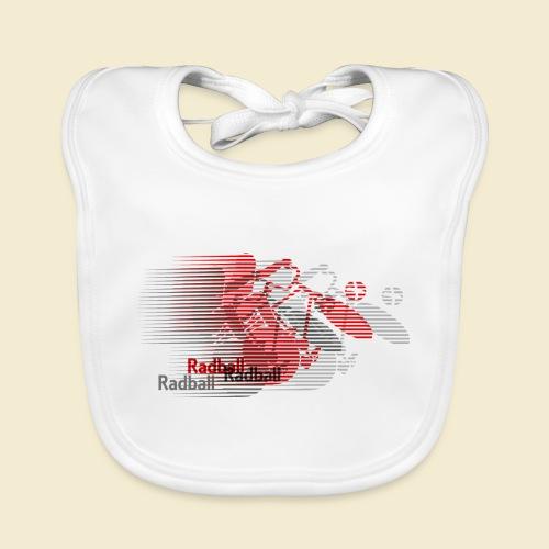Radball | Earthquake Red - Baby Bio-Lätzchen