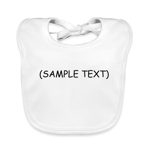 SAMPLETEXT DESIGN - Vauvan luomuruokalappu