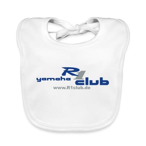 R1club Logo blau - Baby Bio-Lätzchen