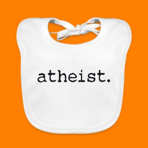 atheist BLACK - Organic Baby Bibs
