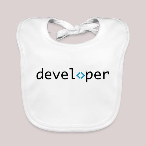 developer, coder, geek, hipster, nerd - Baby Bio-Lätzchen