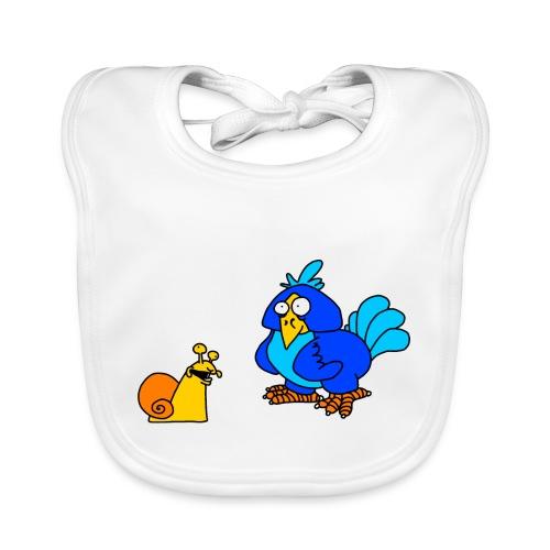 Schnecke und Vogel von dodocomics - Baby Bio-Lätzchen