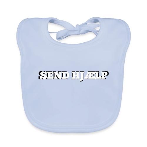 SEND HJÆLP T-shirt - Baby økologisk hagesmæk