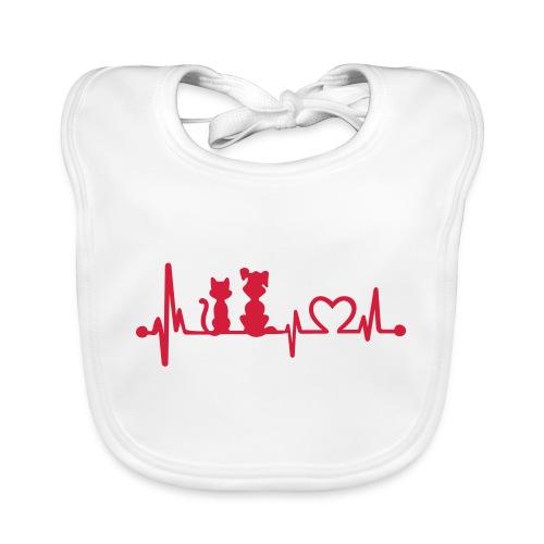 Vorschau: dog cat heartbeat - Baby Bio-Lätzchen