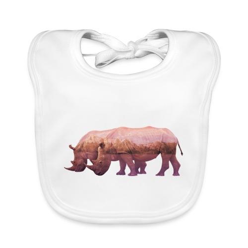 Nashorn Alpen - Baby Bio-Lätzchen