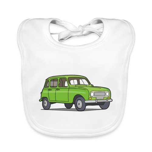 Grüner R4 (Auto) - Baby Bio-Lätzchen