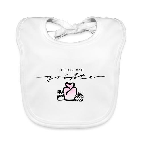 Das größte Geschenk / pink – Baby Kollektion - Baby Bio-Lätzchen