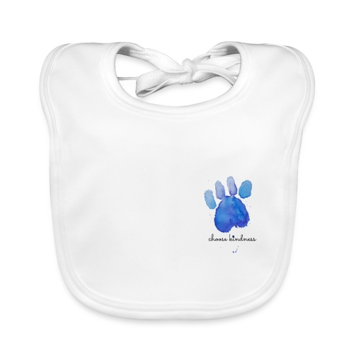 Tierfreund Choose Kindness Hundepfote Wasserfarben - Baby Bio-Lätzchen