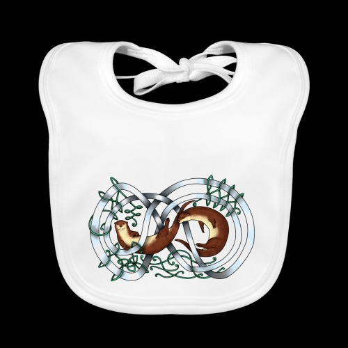 Otters entwined - Organic Baby Bibs