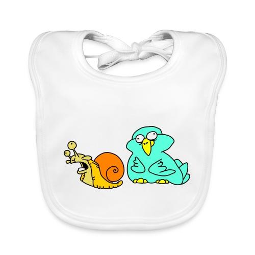 Schnecke und Vogel Nr 3 von dodocomics - Baby Bio-Lätzchen