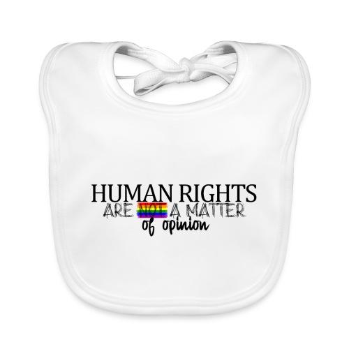 Huma rights - Babero de algodón orgánico para bebés