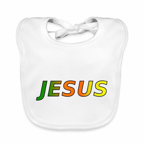 JESUS - grün/orange/gelb - Baby Bio-Lätzchen