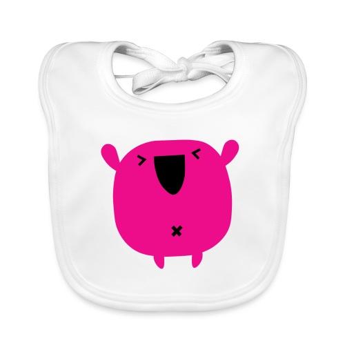 monster pink - Babero ecológico bebé