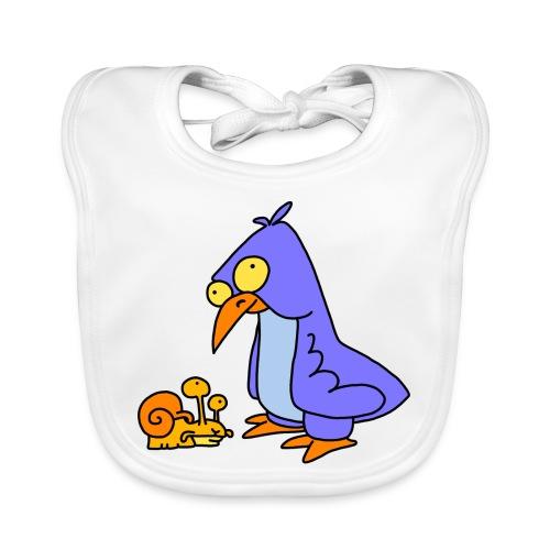 Schnecke und Vogel Nr 2 von dodocomics - Baby Bio-Lätzchen