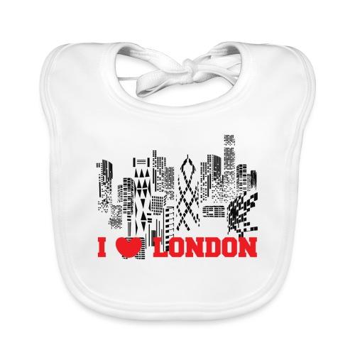 I LOVE LONDON SKYCRAPERS - Babero ecológico bebé