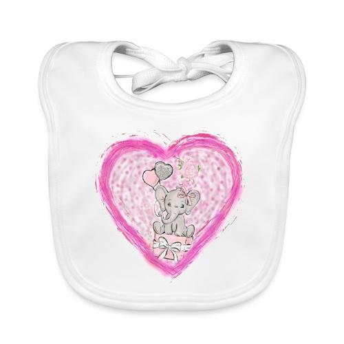 Your-Child pink heart - Hagesmække af økologisk bomuld