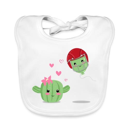 Cactus y Globo, amor - Babero ecológico bebé