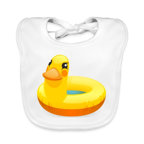 Rubber duck - bio - Bio-slabbetje voor baby's