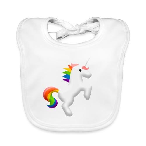 Regenbogen Einhorn - Baby Bio-Lätzchen