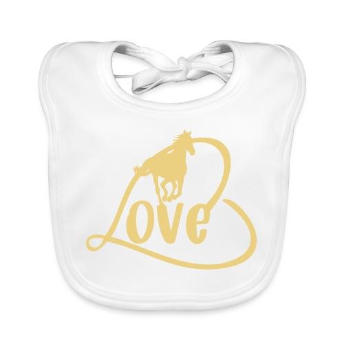 Pferde Liebe - Motiv für Reiter - Baby Bio-Lätzchen