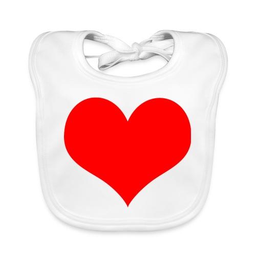 rotes Herz - Baby Bio-Lätzchen