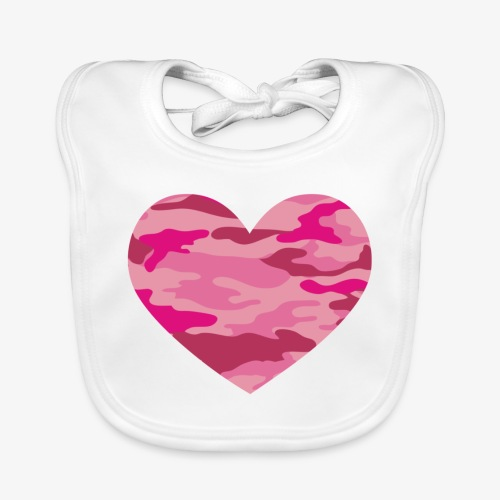 Camouflage My Heart - Baby Organic Bib
