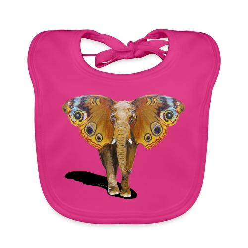 Schmetterling-Elefant - Baby Bio-Lätzchen