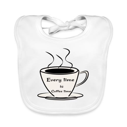kaffe - Ekologisk babyhaklapp