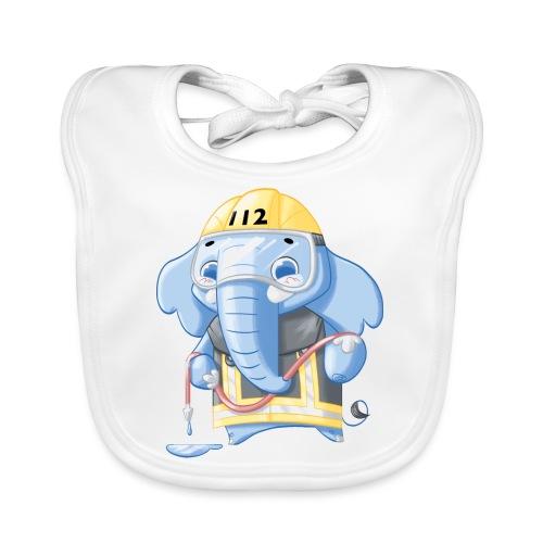 Feuerwehr Elefant - Baby Bio-Lätzchen